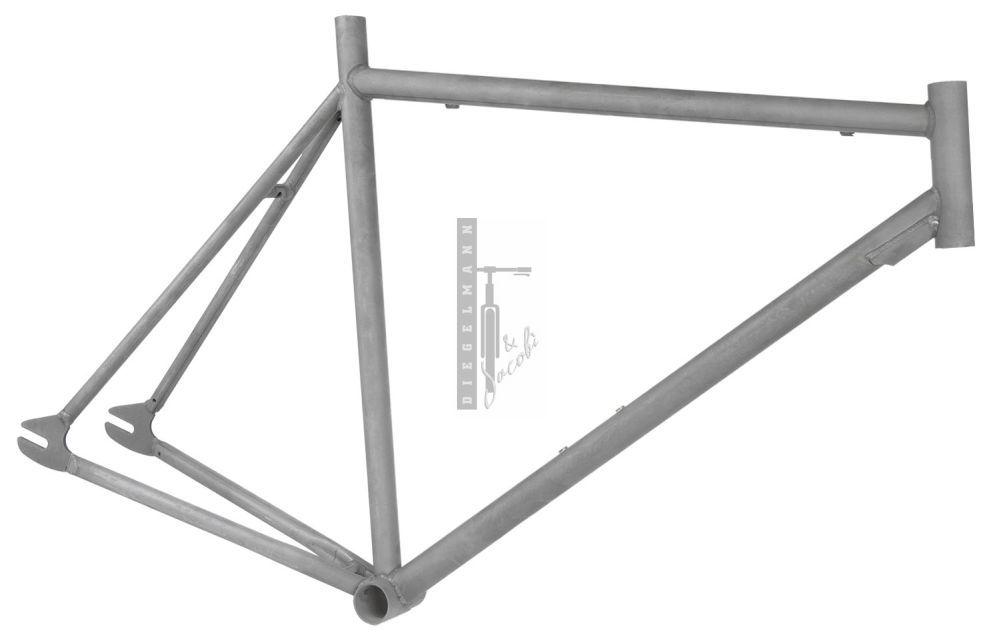 Diegelmann Händlershop   Singlespeed-Rahmen 700C 52cm/1 1/8\'\' Stahl ...